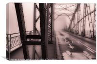Misty Bridge, Canvas Print