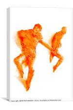 Orange Prancers, Canvas Print