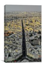 Paris in dusky Sunshine, Canvas Print