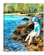 The Little Fisherman , Canvas Print