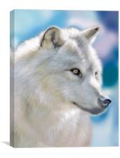 Silver Wolf Art Portrait, Canvas Print