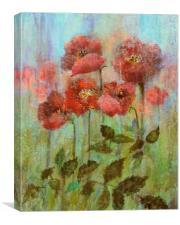 Still Life Pastel Poppies , Canvas Print
