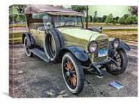 Vintage Hudson 1921 Phaeton Motor Car Canvas Print, Canvas Print
