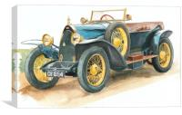 Vintage Blue Bugatti Classic Motor Car, Canvas Print