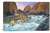 Cornish Rocks Scenery Cornwall, Canvas Print