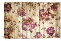 Vintage Purple Shabby Chic Country  Roses , Canvas Print