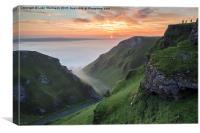 Sunrise at Winnats Pass, Peak District, Canvas Print