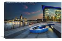 Twilight At The Quays, Canvas Print