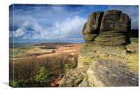 Stanage Edge, Canvas Print