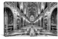 John Rylands Library Manchester UK, Canvas Print