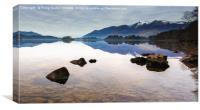 Still Water Over Derwent, Canvas Print