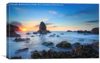 Anglesey Sea Stack, Canvas Print