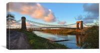 Horkstow Bridge At Sunset, Canvas Print