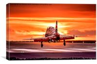 Red Sunset, Canvas Print