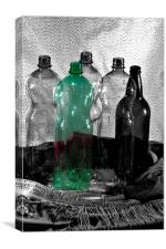 Bottles 1, Canvas Print