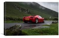 Ferrari 458 Spider, Canvas Print