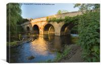 River Bridge., Canvas Print