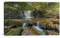 Brecon Waterfall, Canvas Print