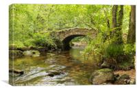 Hisley Bridge, Canvas Print