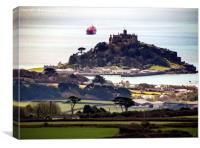 St Michaels Mount View from Trencrom Hill, Canvas Print