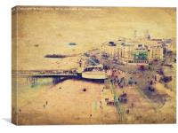 Brighton from the Eye., Canvas Print