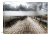Littlehampton pier, Canvas Print