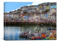 Brixham Harbour Devon, Canvas Print