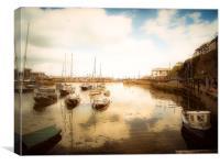 Brixham harbour Devon, Canvas Print