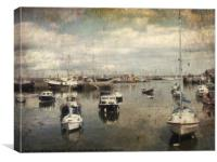 Boats in the harbour. Brixham , Canvas Print