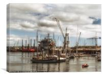 Falmouth docks, Canvas Print