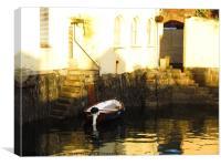 Little Venice Falmouth, Canvas Print