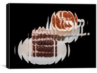 A slice of coffee and cake, Canvas Print