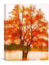 Autumn Tree ( digital art), Canvas Print