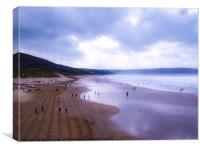 Woolacombe beach, winters day walk, Canvas Print