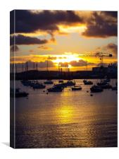 Falmouth Sunrise , Canvas Print