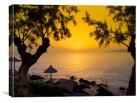 Sunrise in Crete , Canvas Print