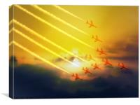 The wonderful Red Arrows, Canvas Print