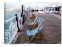 Brighton Pier ( Digital Art ), Canvas Print
