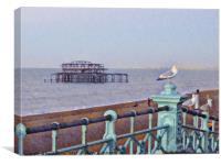Brighton, west pier , Canvas Print