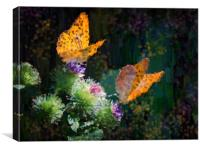 Butterflies and Flowers , Canvas Print