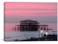 West Pier Brighton , Canvas Print