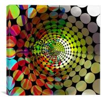 Tunnel of Colours, Canvas Print