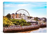 The Torquay Big Wheel, Canvas Print