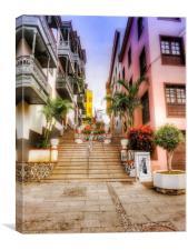 Steps, Puerto De La Cruz, Tenerife , Canvas Print