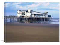 The Grand Pier, Weston Super Mare , Canvas Print