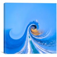 The colours of Hayle beach, Canvas Print
