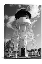 Light House in black and white, Canvas Print