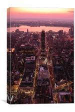 Manhattan sunset skyline, Canvas Print