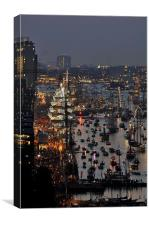 The Ijhaven at the time of the Sail Amsterdam 2015, Canvas Print