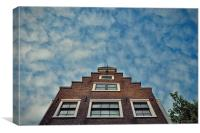 Classic Amsterdam Residential Building, Canvas Print